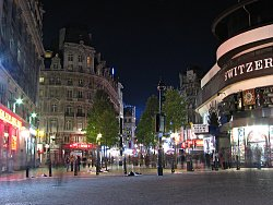 Leicester Square by night