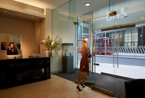 Shoreditch Serviced offices at 228 Bishopsgate reception