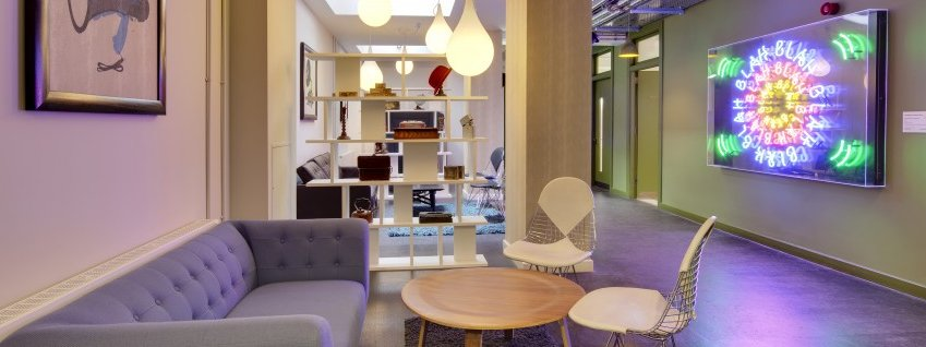 Shoreditch serviced offices lounge