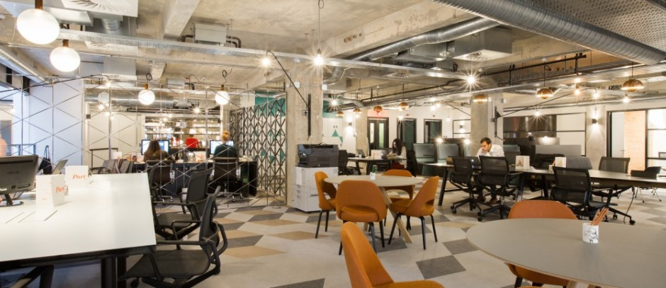 A shared working space at Albert House, Old Street