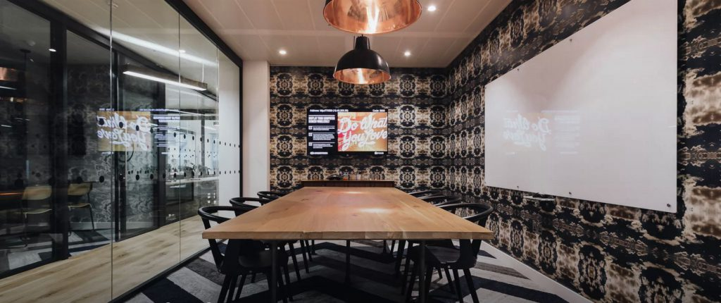 Informal meeting room at creative workspace provider WeWork