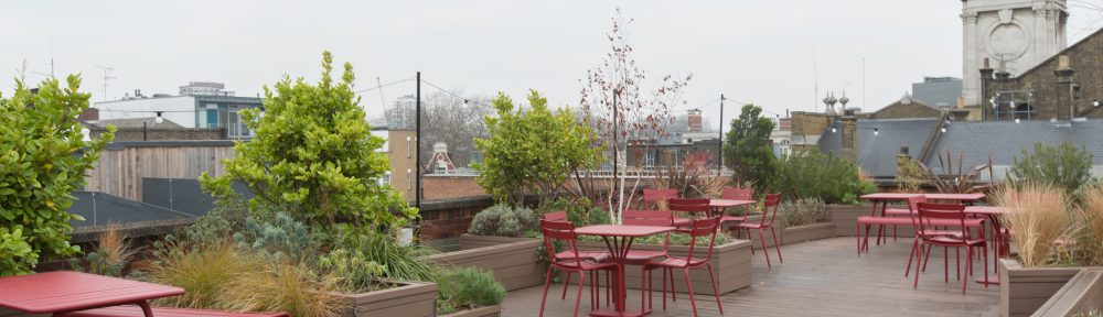 Roof terrace at Rivington Street